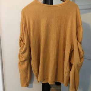 ZARA mustard knotted top